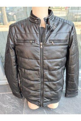 Férfi műbőr kabát