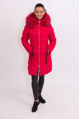 Női divatos hosszított karcsúsított téli kabát