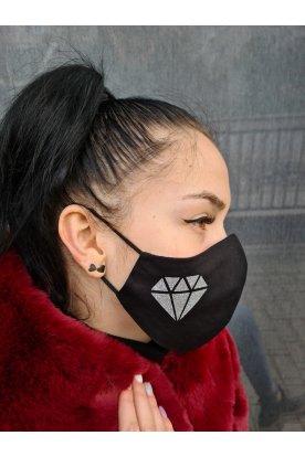 Nyomott gyémánt mintás maszk