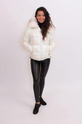 Gyöngyház fényű stílusos oversize téli kabát