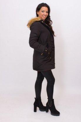 Divatos kifordítható női párka kabát