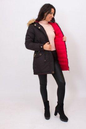 2in1 kabát: parka és steppelt
