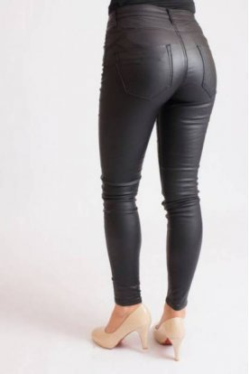 Női nagy méretű bélelt szexi divatos push-up bőrnadrág