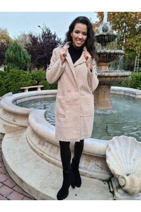 Női divatos átmeneti elegáns buklés kabát