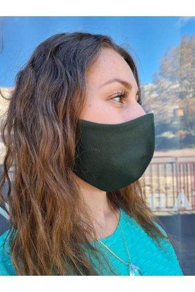 Divatos sötétzöld szájmaszk
