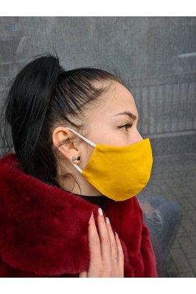Divatos sárga szájmaszk