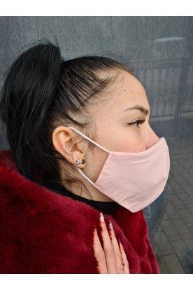 Divatos rózsaszín szájmaszk