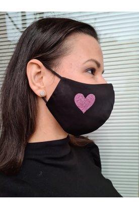 Szívecskés mintával díszített mosható szájmaszk
