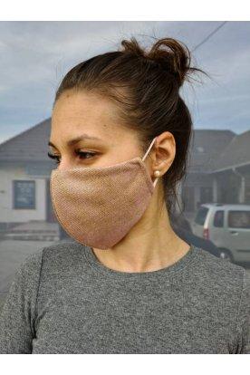 Csillogós női divatos maszk