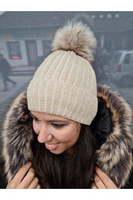 Női divatos csillogós kötött téli sapka