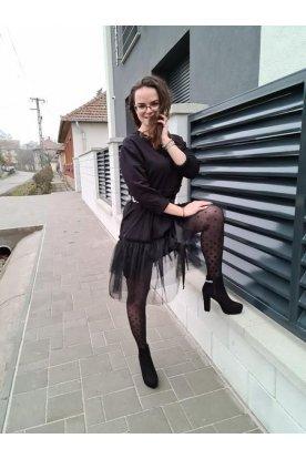 Női divatos tüll szoknyás ruha övvel