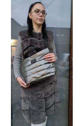 Divatos női 2 in 1 steppelt táska