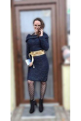 Divatos kötött pulóver/ruha