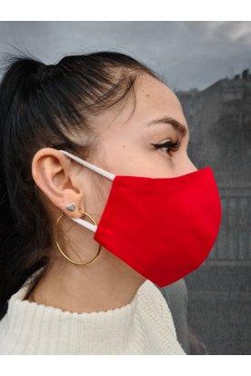 Divatos piros szájmaszk