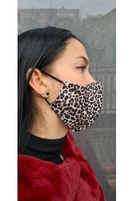 Igazán divatos leopárd mintás szájmaszk