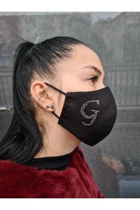 Egyedi betű mintával díszített mosható szájmaszk
