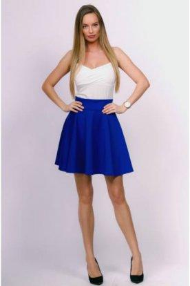 VICTORIA MODA divatos női széles derék kialakítású pörgős mini szoknya
