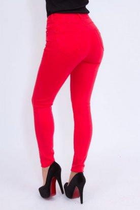 MISS BONBON JEANS divatos női piros nadrág