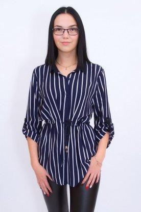 CATANIA divatos női csíkos ingtunika, mely derékban megköthető