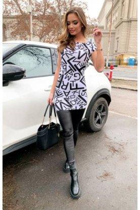 VICTORIA MODA divatos női környakú póló ruha