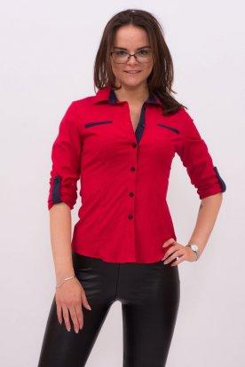 CATANIA női divatos hosszú ujjú kis méretű ing apró pöttyös mintával