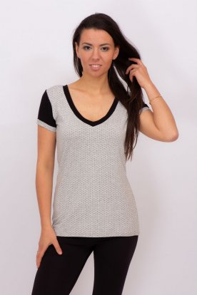 RUCY FASHION divatos női pöttyös rövid ujjú póló