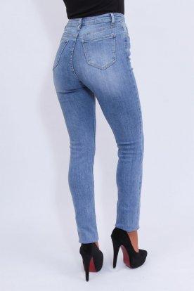 RE-DRESS extra hosszú szárú és magas derekú női világos farmernadrág