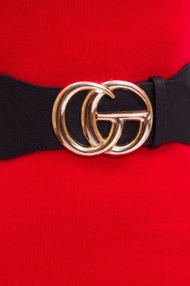 GG divatos női fémcsatos gumis öv