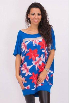 RUCY FASHION divatos női bő szabású felső virágmintával