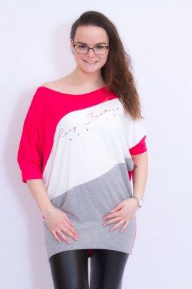RUCY FASHION keresztben csíkos női divatos bő szabású felső