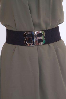 BB divatos női gumis öv fémcsattal