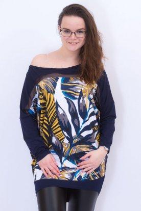 RUCY FASHION divatos női hosszú ujjú mintás felső