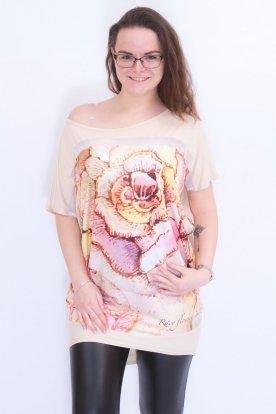 RUCY FASHION női bő szabású virág mintás felső