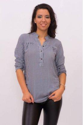 CATANIA divatos női kis méretű csíkos ing