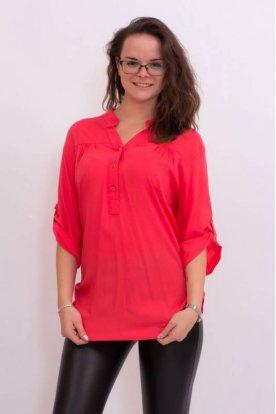 CATANIA divatos egyszínű nagy méretű ingblúz