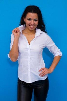 CATANIA divatos női karcsúsított fehér ing