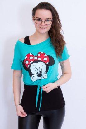 Mesefigurás divatos lezser női póló trikóval