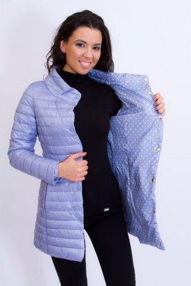 Divatos női hosszított kifordíthatós átmeneti kabát