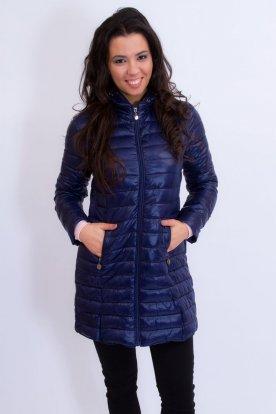 Divatos női hosszított átmeneti steppelt kabát