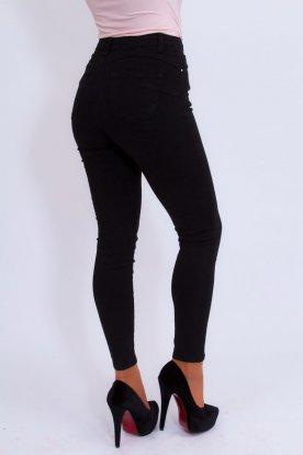 MISS BONBON divatos szexi push up-os fekete színű farmer nadrág