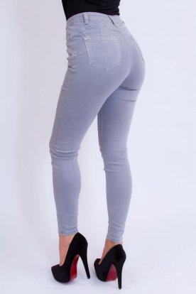 MISS BONBON divatos szexi push up-os szürke színű farmer nadrág
