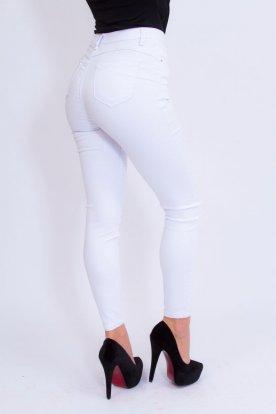 MISS BONBON divatos szexi push up-os fehér színű farmer nadrág