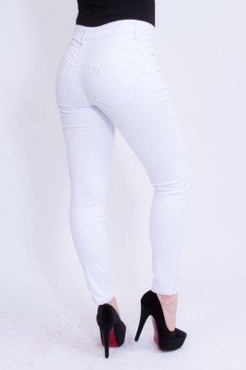 MISS BONBON divatos nagy méretű szexi push up-os női fehér farmernadrág