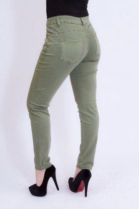 MISS BONBON divatos nagy méretű szexi push up-os női khaki farmernadrág