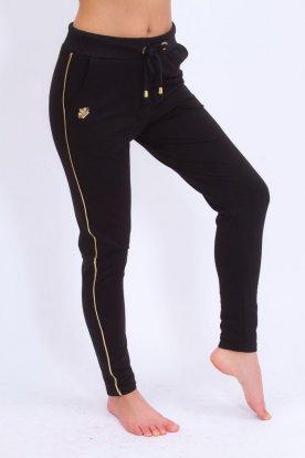 Sportos fekete női szabadidő nadrág