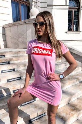 VICTORIA MODA divatos ORIGINAL feliratos női póló ruha