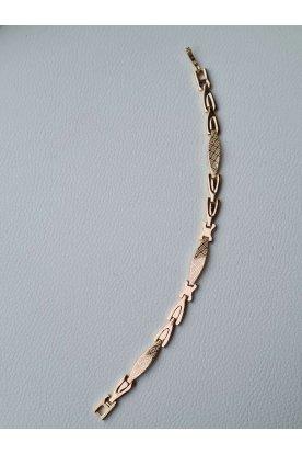 Divatos aranyozott nyomott mintás női karkötő