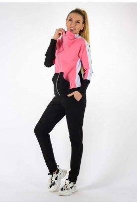 YESSTORY divatos kényelmes kenguru zsebes női szabadidő szett