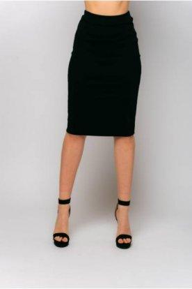 VICTORIA MODA divatos női bordázott midi szoknya