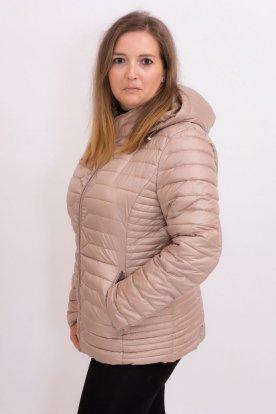 Nagy méretű divatos női átmeneti steppelt anyagú bő szabású kabát